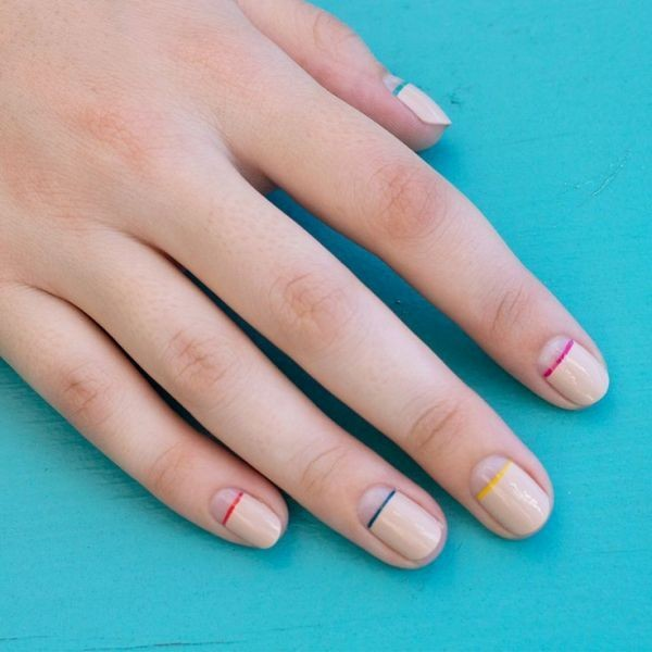 striped-nails-13 16+ Lovely Nail Polish Trends for Spring & Summer 2018