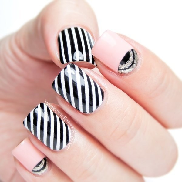 striped-nails-7 16+ Lovely Nail Polish Trends for Spring & Summer 2018