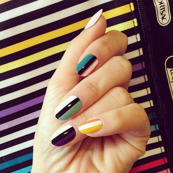 striped-nails-8 16+ Lovely Nail Polish Trends for Spring & Summer 2020