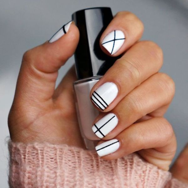 striped-nails-9 16+ Lovely Nail Polish Trends for Spring & Summer 2018
