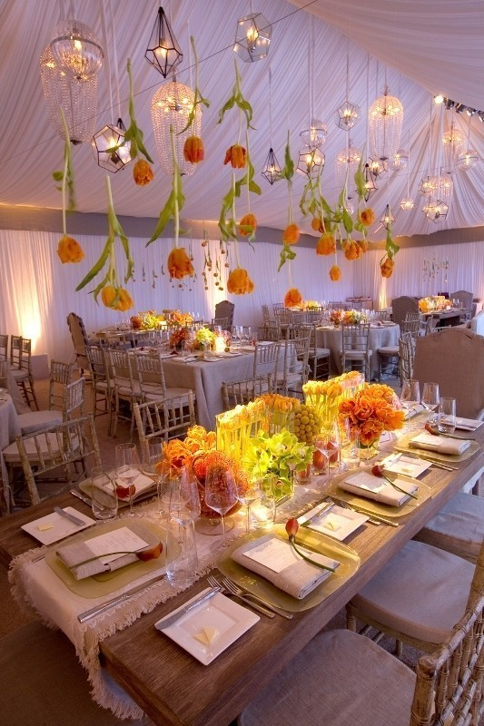 suspended-wedding-centerpieces-2 11 Tips on Mixing Antique and Modern Décor Styles