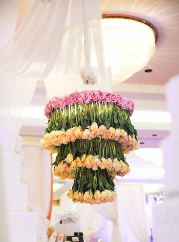 suspended-wedding-centerpieces-5 11 Tips on Mixing Antique and Modern Décor Styles