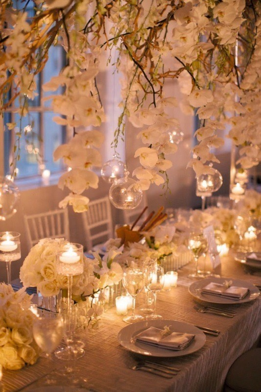 suspended-wedding-centerpieces 11 Tips on Mixing Antique and Modern Décor Styles