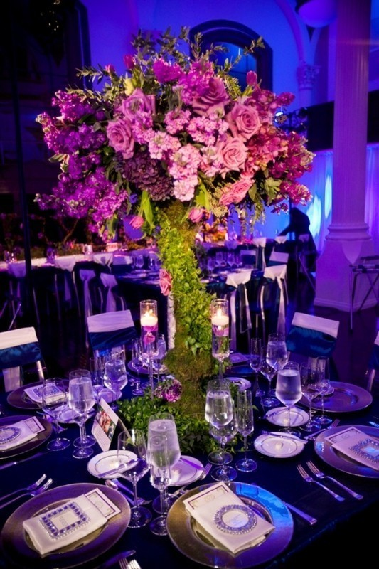 tall-wedding-centerpieces-10 11 Tips on Mixing Antique and Modern Décor Styles