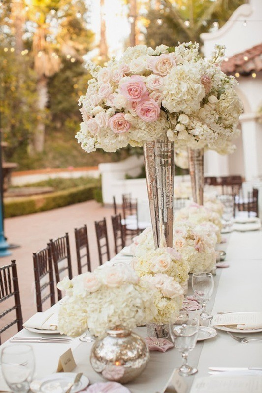 tall-wedding-centerpieces-14 11 Tips on Mixing Antique and Modern Décor Styles