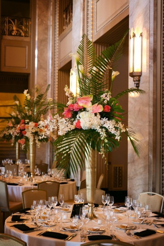 tall-wedding-centerpieces-21 11 Tips on Mixing Antique and Modern Décor Styles