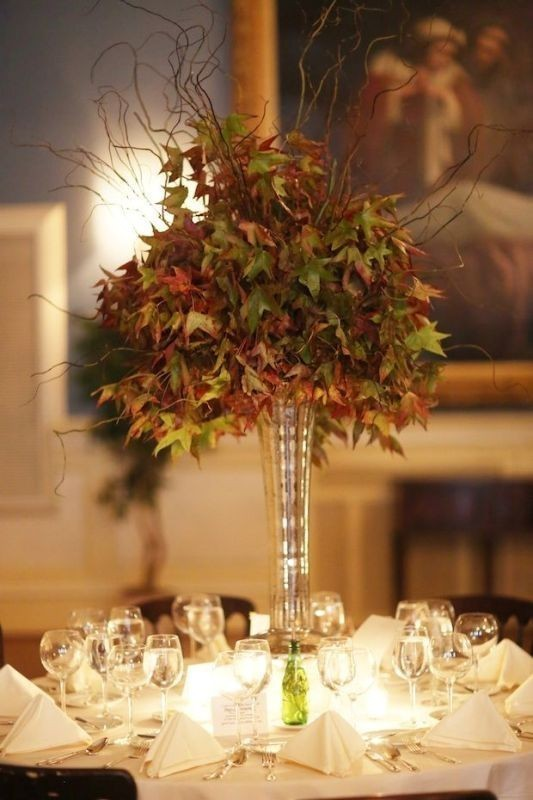 tall-wedding-centerpieces-5 11 Tips on Mixing Antique and Modern Décor Styles