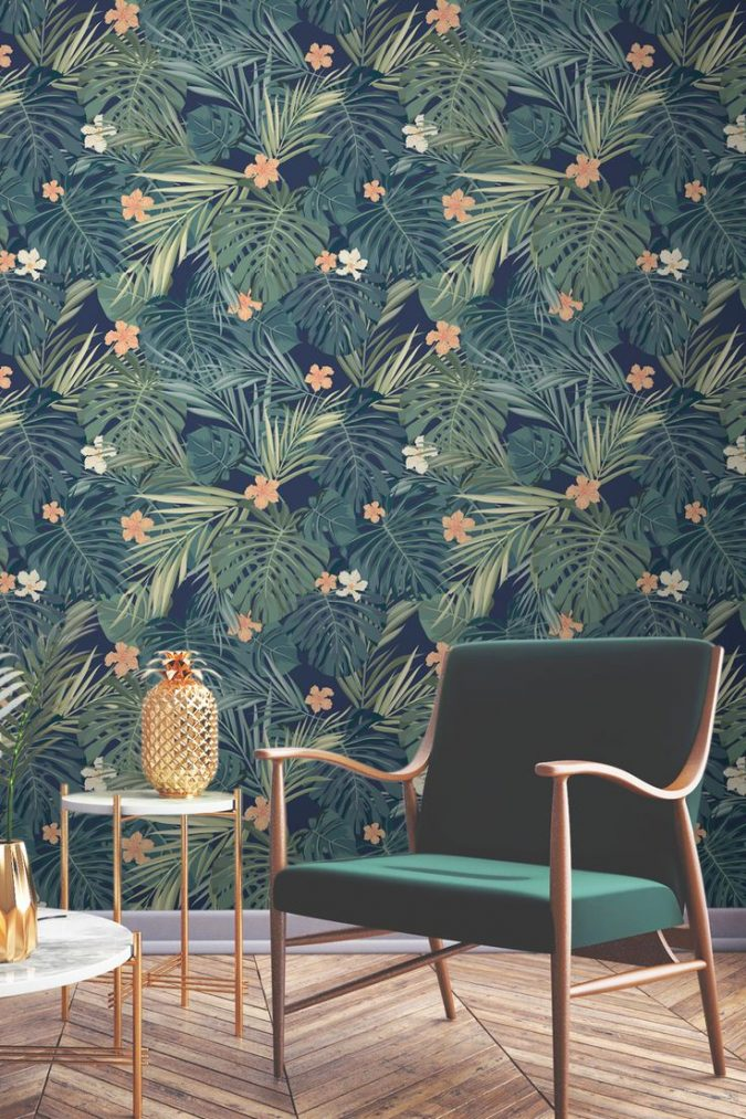 tropical-wallpaper-675x1013 14 Hottest Interior Designers Trends in 2018