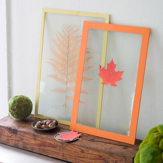 two-glass-pieces-in-decorating-frames Few Chic Yet Affordable Ways For Your Home Garnishing