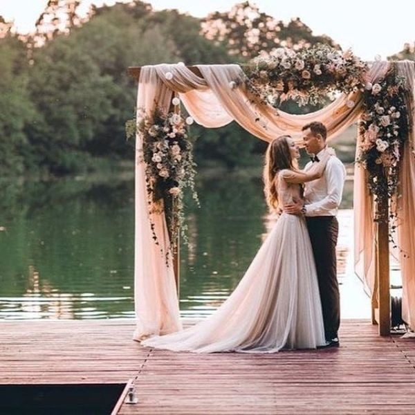 wedding-arch-and-backdrop-decoration-ideas-16 82+ Awesome Outdoor Wedding Decoration Ideas
