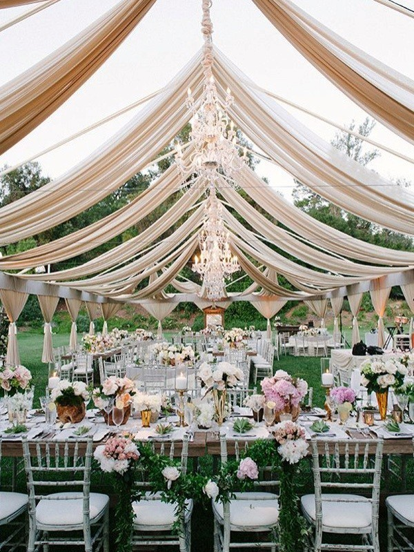wedding-tent-decoration-ideas-6 88+ Unique Ideas for Decorating Your Outdoor Wedding