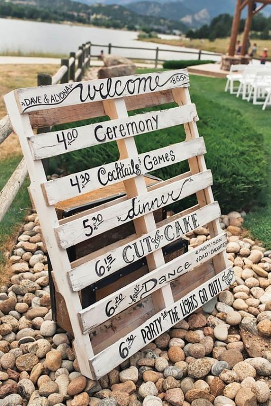 welcome-wedding-signs-4 88+ Unique Ideas for Decorating Your Outdoor Wedding