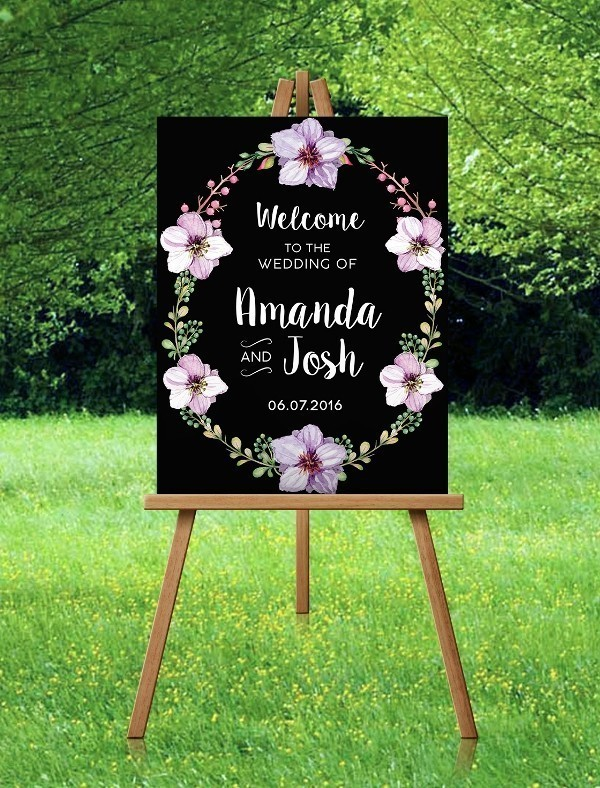 welcome-wedding-signs-6 88+ Unique Ideas for Decorating Your Outdoor Wedding