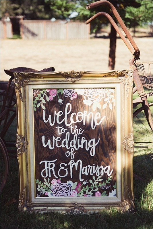welcome-wedding-signs 88+ Unique Ideas for Decorating Your Outdoor Wedding