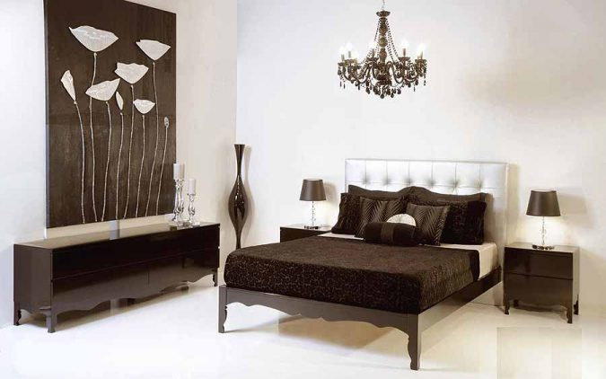 white-bedroom-theme-color-contrast-with-art-deco-brown-furniture-675x422 2018 Trending: 20 Bedroom Designs to Watch for in 2018