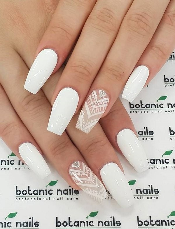 white-nails-1 16+ Lovely Nail Polish Trends for Spring & Summer 2018