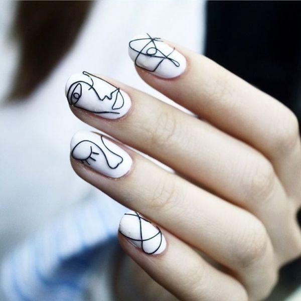 white-nails-4 16+ Lovely Nail Polish Trends for Spring & Summer 2020