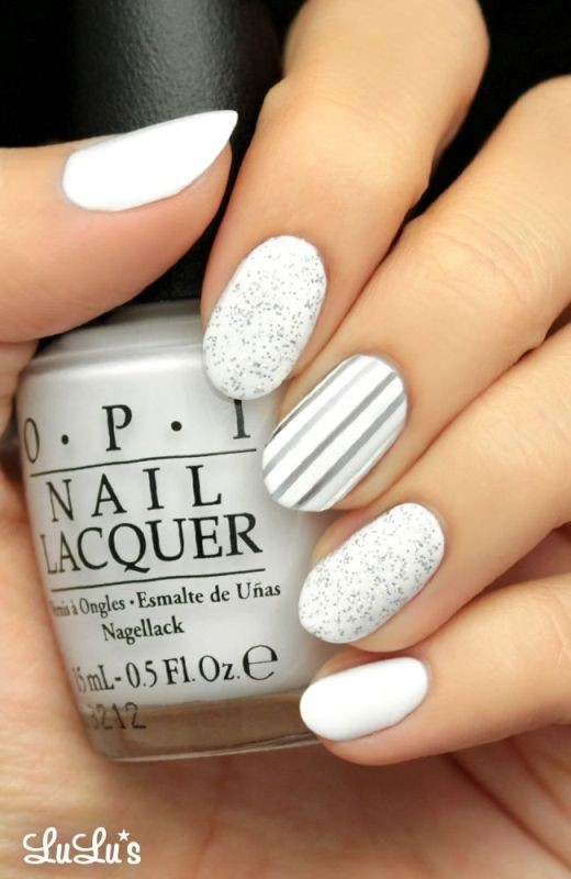 white-nails 16+ Lovely Nail Polish Trends for Spring & Summer 2018