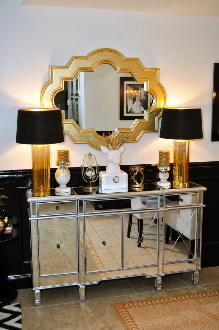 1dbba723f0511be1c8331e6bdc33a03e-black-gold-bedroom-black-white-and-gold-living-room-ideas 10 Ways to Add Glam to Your Hollywood Home