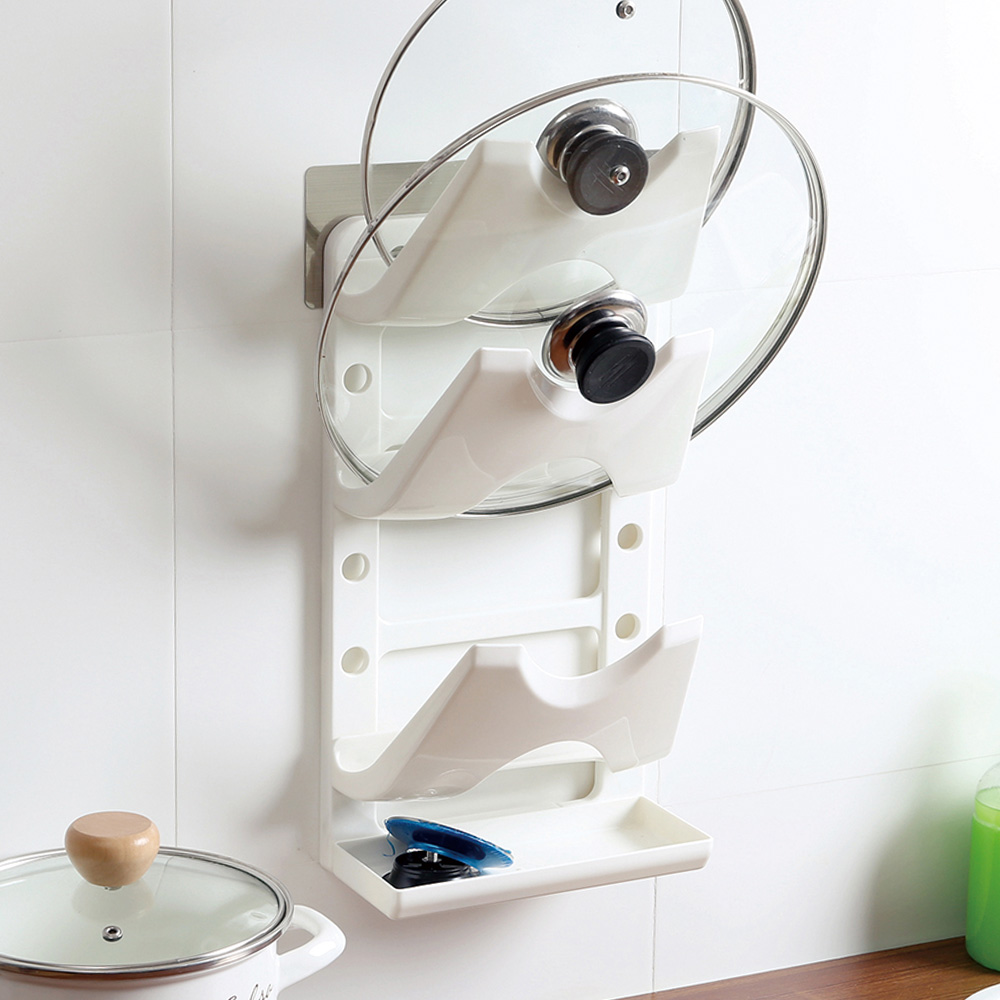 Free-Shipping-Strong-Suction-magic-flexible-sticker-pot-rack-font-b-lid-b-font-font-b 6 Affordable Organizing and Decoration Ideas for your Kitchen