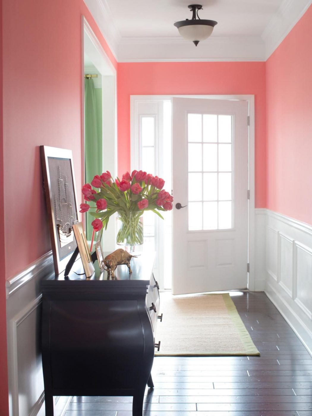 Hallway-pink-shade-paint 10 Ways to Add Glam to Your Hollywood Home