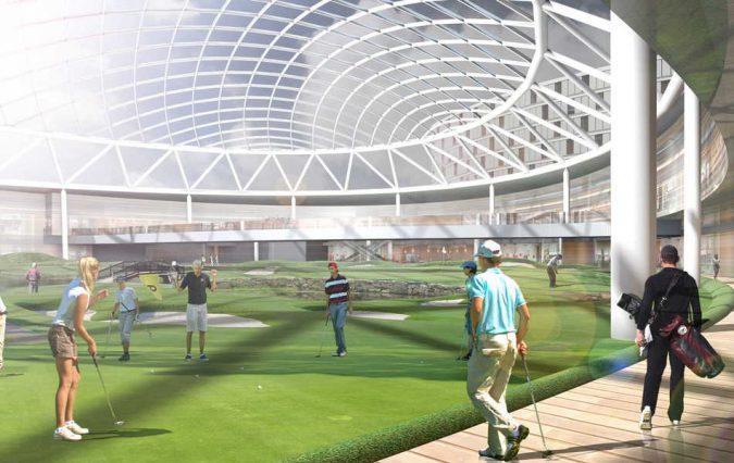 Indoor-Golf-Arena-675x426 17 Latest Futuristic Architecture Designs in 2020