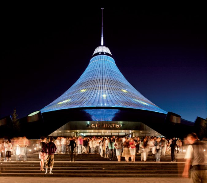 Khan-Shatyr-center-675x596 17 Latest Futuristic Architecture Designs in 2020