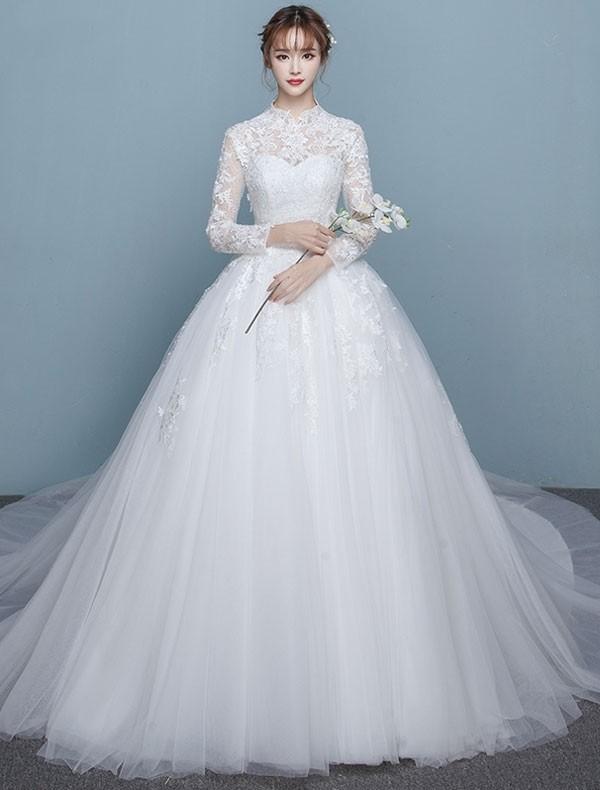 Muslim-wedding-dresses-108 84+ Coolest Wedding Dresses for Muslim Brides in 2020
