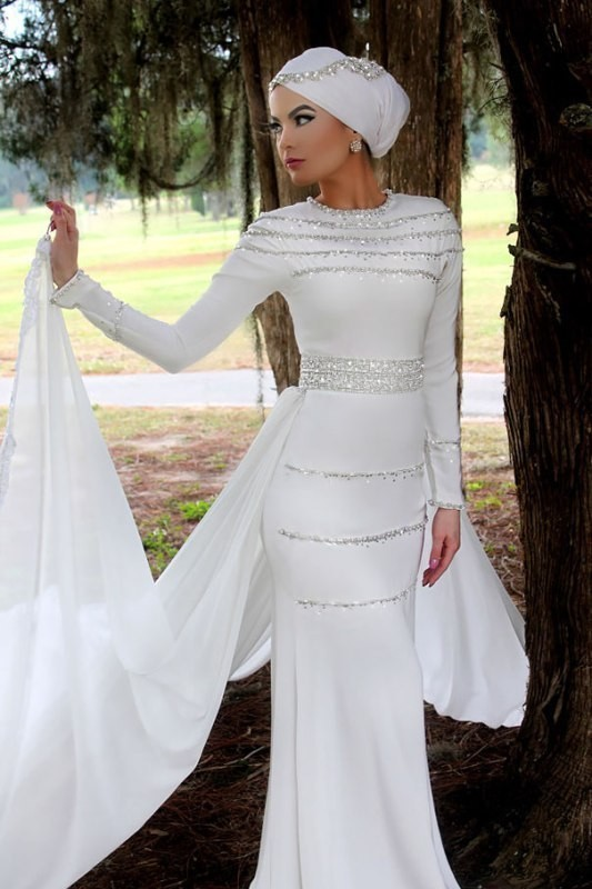 Muslim-wedding-dresses-34 84+ Coolest Wedding Dresses for Muslim Brides in 2018