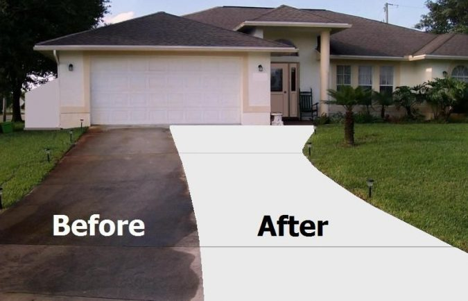 Pressure-clean-the-driveways-675x434 Improve the Curb Appeal of Your Home with These Simple Tips