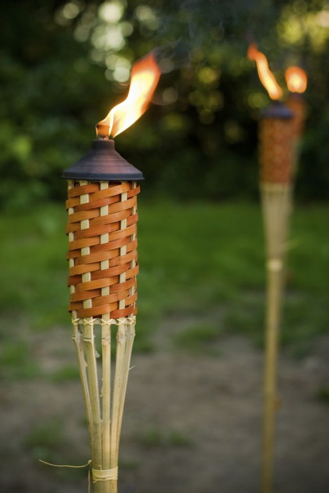 Torches-Lighting-outdoor-675x1011 11 Tips on Mixing Antique and Modern Décor Styles