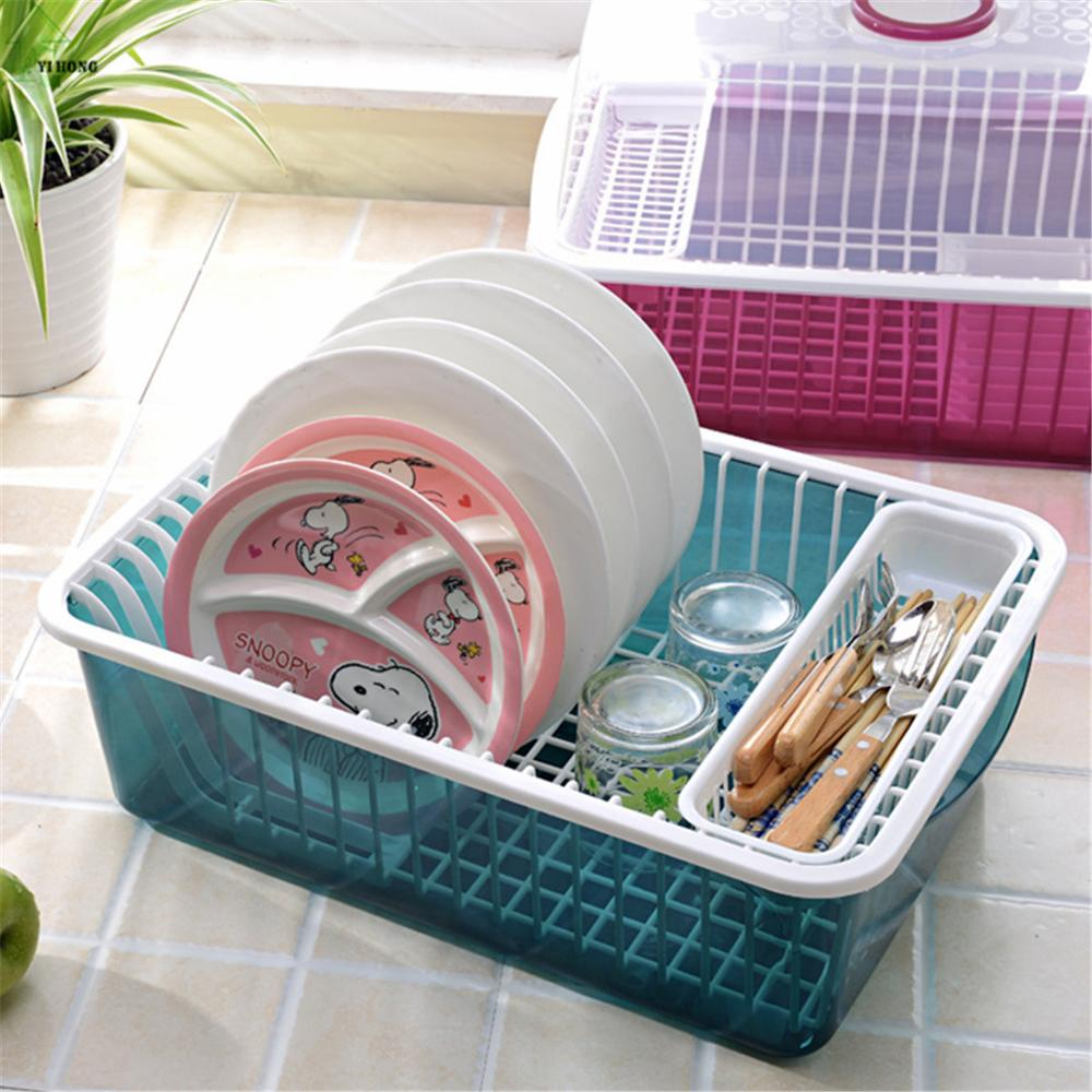 YI-HONG-Draining-Shelf-With-Transparent-Cover-Kitchen-Practical-Dishes-font-b-Storage-b-font-font 6 Affordable Organizing and Decoration Ideas for your Kitchen