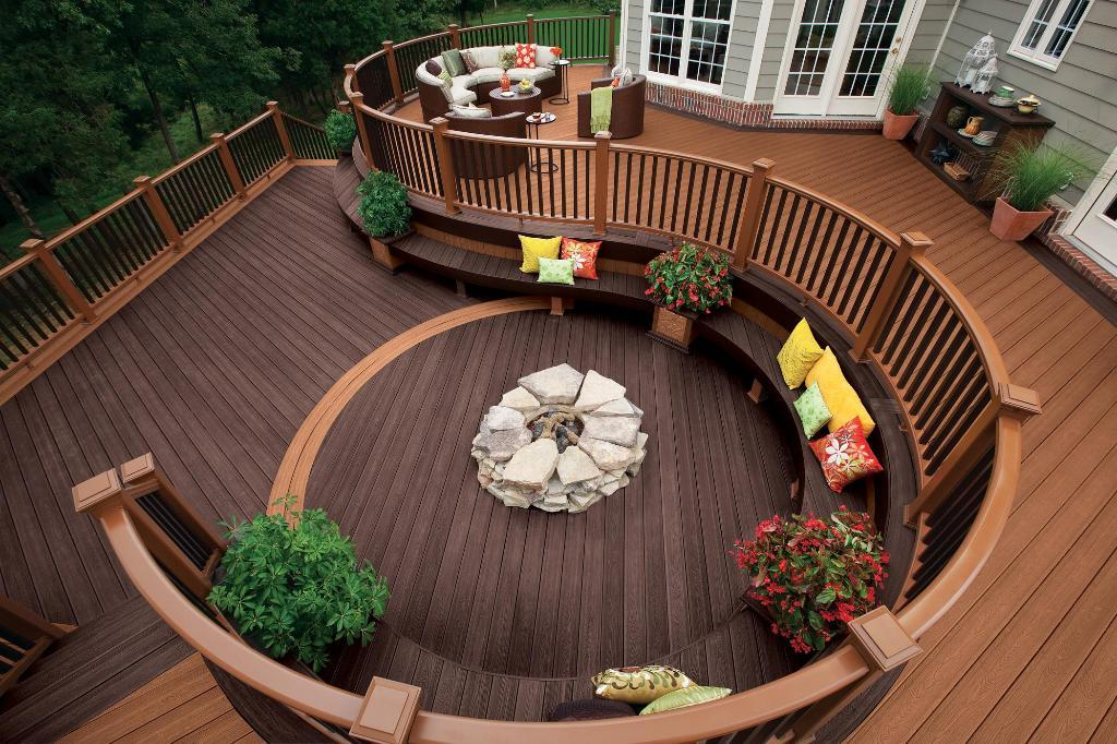 archadeck_curve_deck_with_fire_pit_outdoor_living Delightful and Affordable Fire pit Decoration Designs in 2017