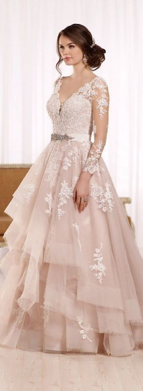 colored-wedding-dresses-2017-1 75+ Most Breathtaking Colored Wedding Dresses in 2020