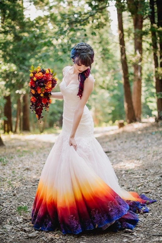 colored-wedding-dresses-2017-107 75+ Most Breathtaking Colored Wedding Dresses in 2020