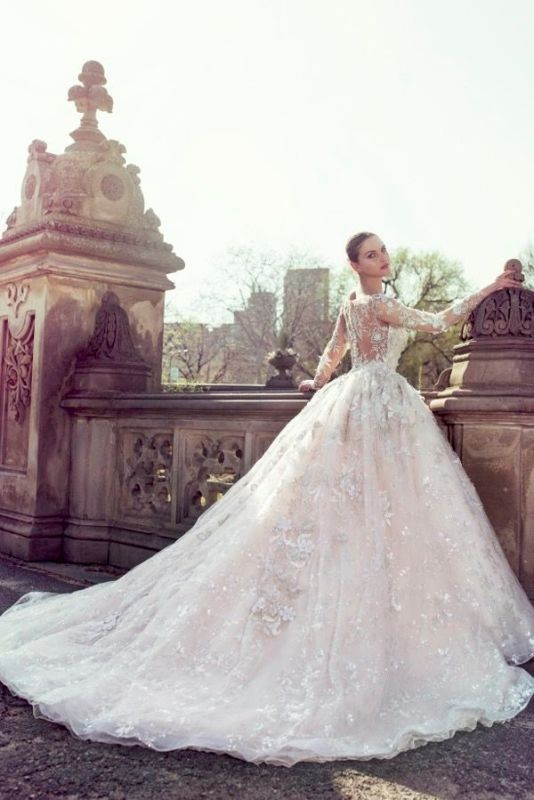 colored-wedding-dresses-2017-111 75+ Most Breathtaking Colored Wedding Dresses in 2020