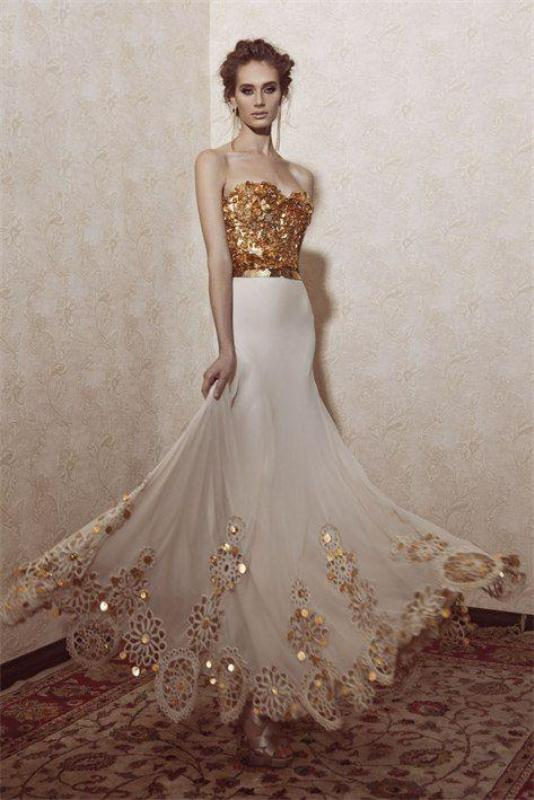 colored-wedding-dresses-2017-113 75+ Most Breathtaking Colored Wedding Dresses in 2020