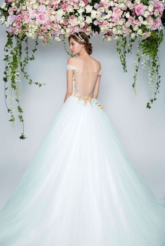 colored-wedding-dresses-2017-116 75+ Most Breathtaking Colored Wedding Dresses in 2020