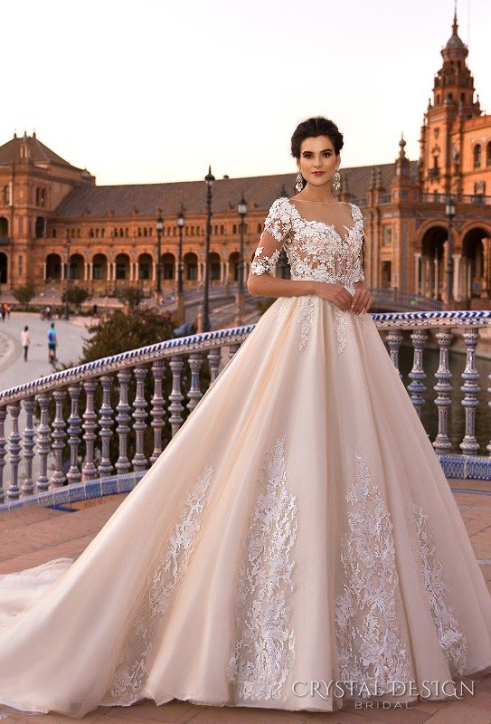 colored-wedding-dresses-2017-117 75+ Most Breathtaking Colored Wedding Dresses in 2020