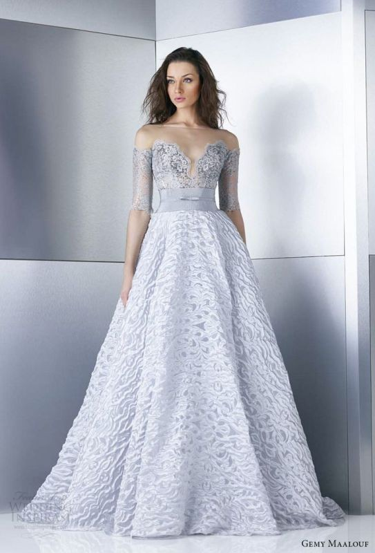 colored-wedding-dresses-2017-119 75+ Most Breathtaking Colored Wedding Dresses in 2020