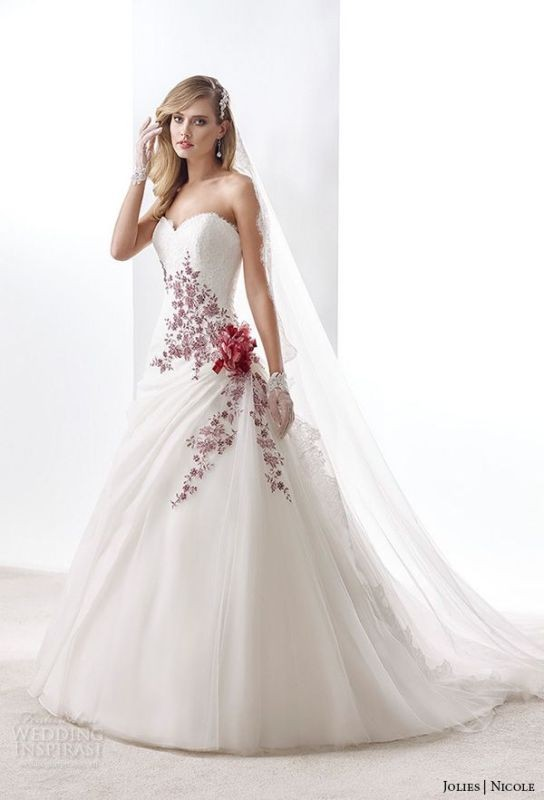 colored-wedding-dresses-2017-121 75+ Most Breathtaking Colored Wedding Dresses in 2020