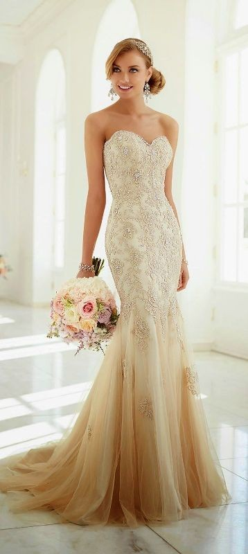colored-wedding-dresses-2017-13 75+ Most Breathtaking Colored Wedding Dresses in 2020