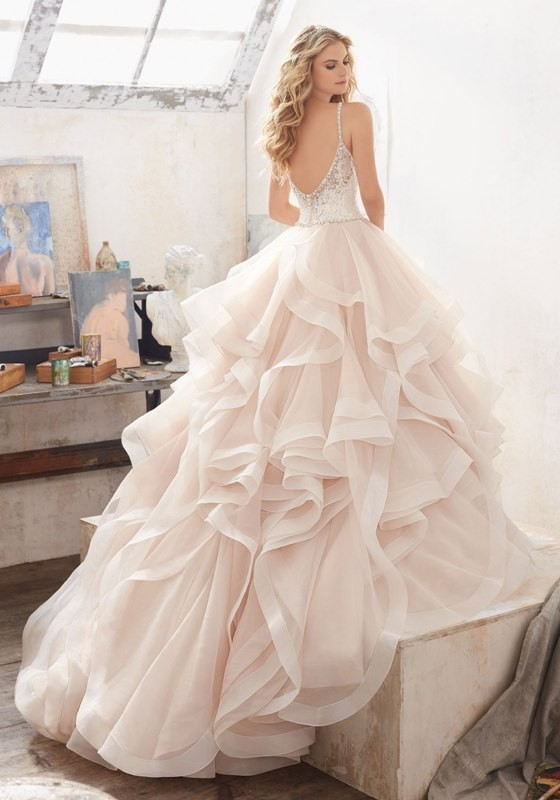 colored-wedding-dresses-2017-130 75+ Most Breathtaking Colored Wedding Dresses in 2020