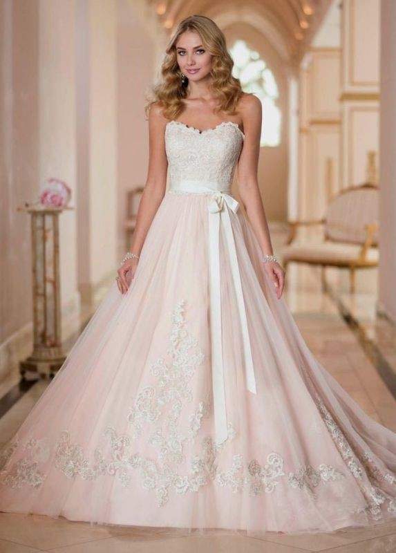 colored-wedding-dresses-2017-134 75+ Most Breathtaking Colored Wedding Dresses in 2020