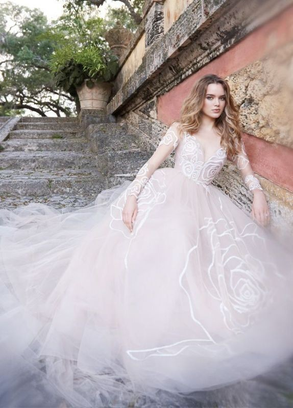 colored-wedding-dresses-2017-136 75+ Most Breathtaking Colored Wedding Dresses in 2018