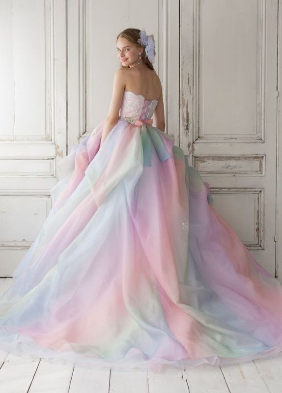 colored-wedding-dresses-2017-138 75+ Most Breathtaking Colored Wedding Dresses in 2020