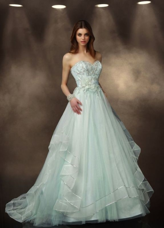 colored-wedding-dresses-2017-141 75+ Most Breathtaking Colored Wedding Dresses in 2020