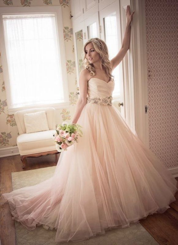 colored-wedding-dresses-2017-142 75+ Most Breathtaking Colored Wedding Dresses in 2020