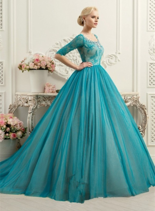 colored-wedding-dresses-2017-144 75+ Most Breathtaking Colored Wedding Dresses in 2020