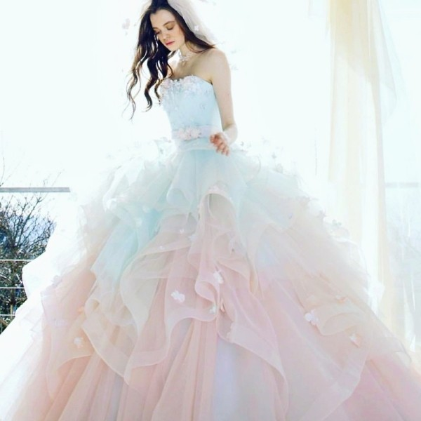 colored-wedding-dresses-2017-146 75+ Most Breathtaking Colored Wedding Dresses in 2020